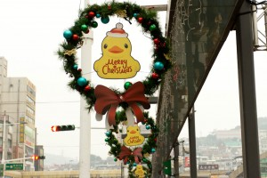 Rubber duck Christmas decorations